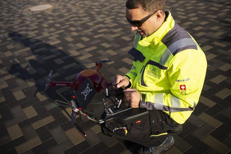Making of von Ken Wagner als Architekturfotograf, Drohnenfotografie