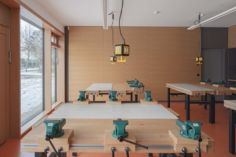 Werkraum -Architekturfotograf Ken Wagner, Batimet Oberschule Pirna klassenzimmer