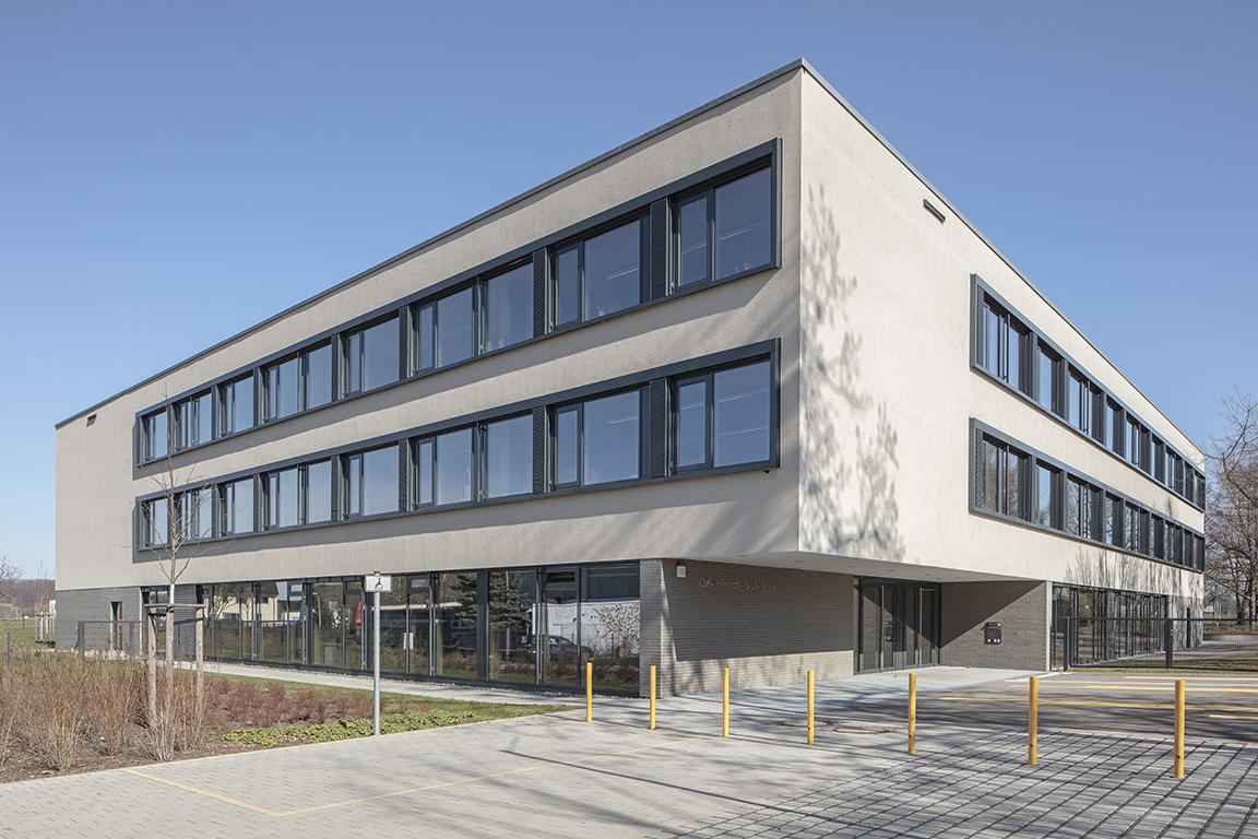 Architekturfotograf Ken Wagner, Batimet Oberschule Pirna Außenaufnahme