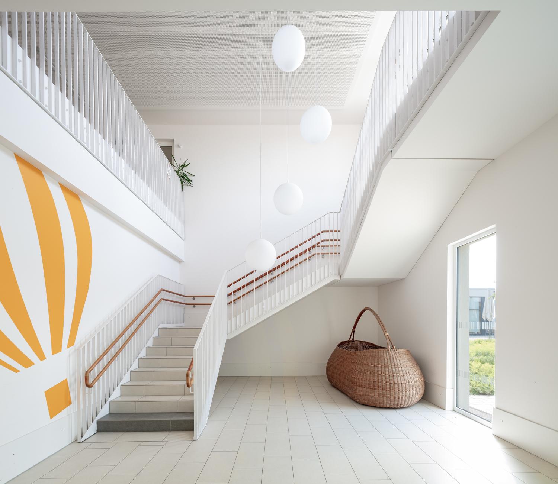 Architekturfotograf Ken Wagner in Dresden, Entdeckerschule in Chemnitz, Treppenaufgang