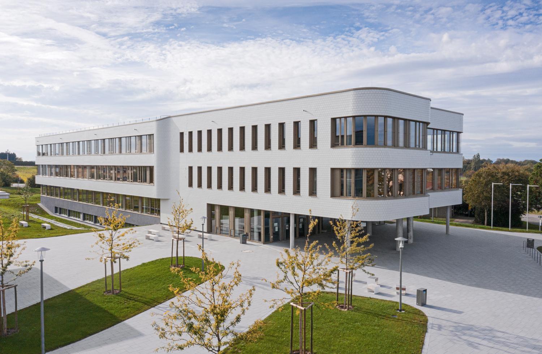 Drohnenaufname vom Berufsschule in Bad Krozingen