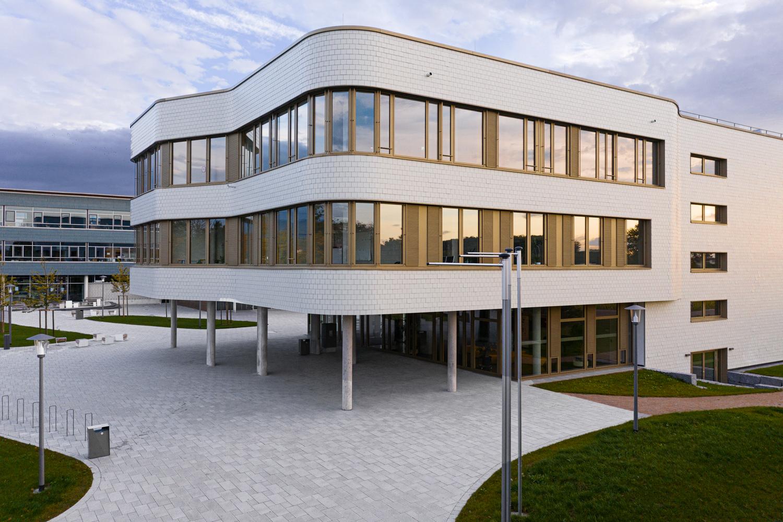 Drohnenaufname vom Beruflichen Gymnasium in Bad Krozingen