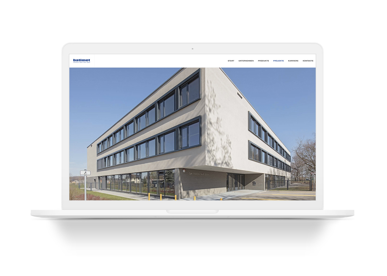 Webseite vo Batimet mit Architekturfotografien von Ken Wagner