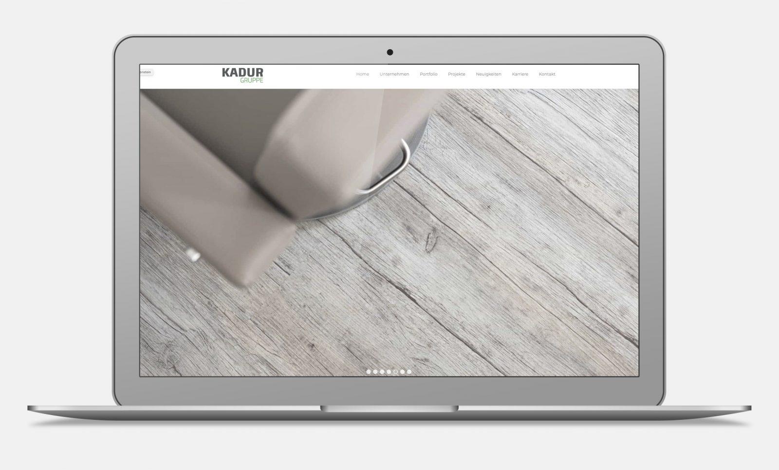 Webseite von Raumidee Kadurgruppe