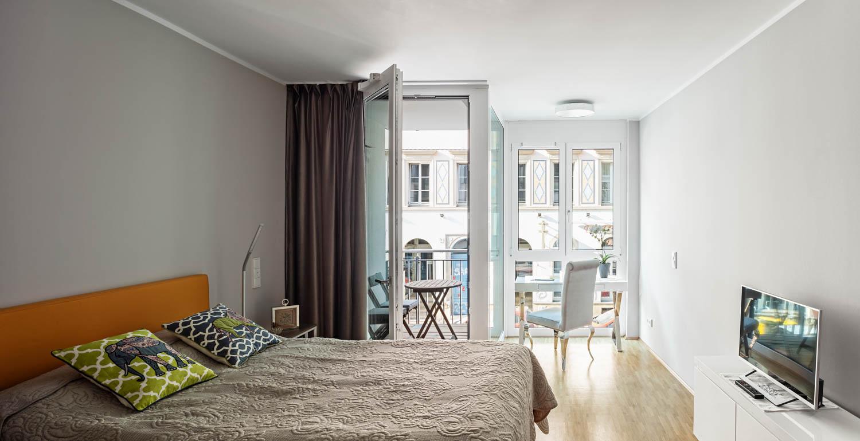 Immobilienfotografie Schlafzimmer Wohnbereich in Dresden