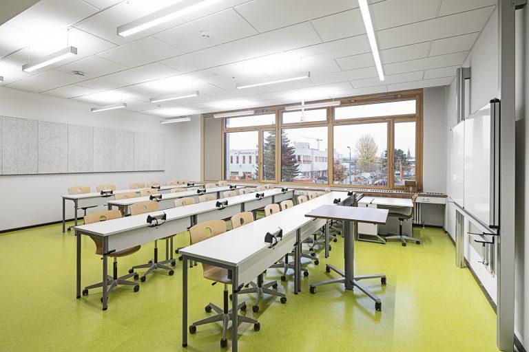 Klassenzimmer im Schulcampus in Pieschen in Dresden Außenaufnahme