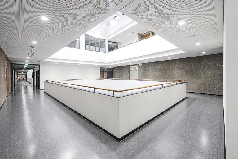 Atrium Schulcampus in Pieschen in Dresden Außenaufnahme