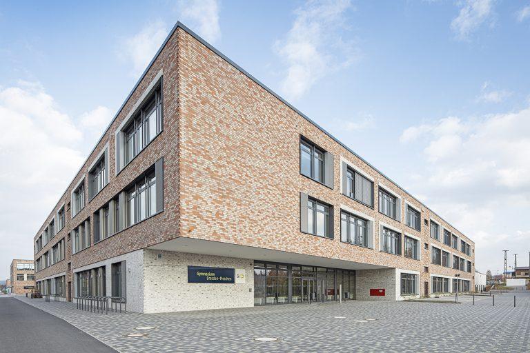 Schulcampus in Pieschen in Dresden Außenaufnahme