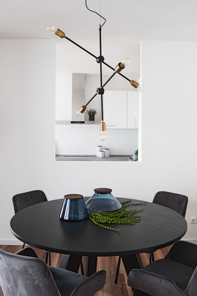 Tisch in der Musterwohnung in Dresden IMusterwohnung in Dresden Immobilienfotograf Leipzig Chemnitz Dresden