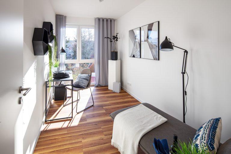 Arbeitszimmer in einer Musterwohnung Musterwohnung in Dresden Immobilienfotograf Leipzig Chemnitz Dresden