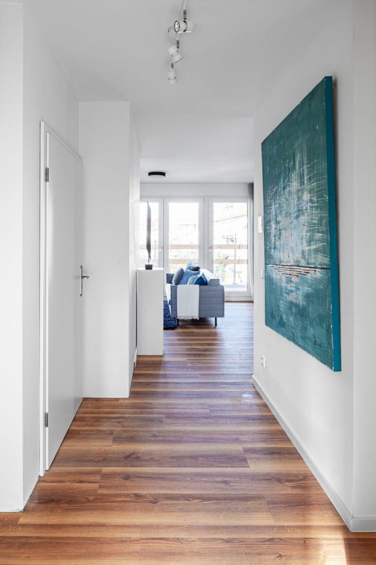 Flur in einer Musterwohnung Musterwohnung in Dresden Immobilienfotograf Leipzig Chemnitz Dresden