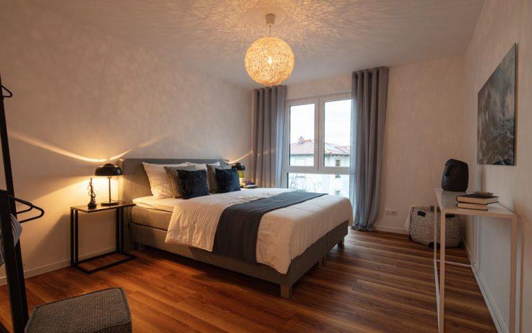 Schlafstube in der Musterwohnung in Dresden Immobilienfotograf Architekturfotograf