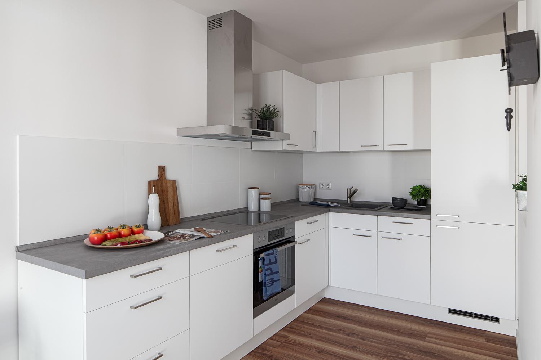 Küche in einer Musterwohnung in Dresden