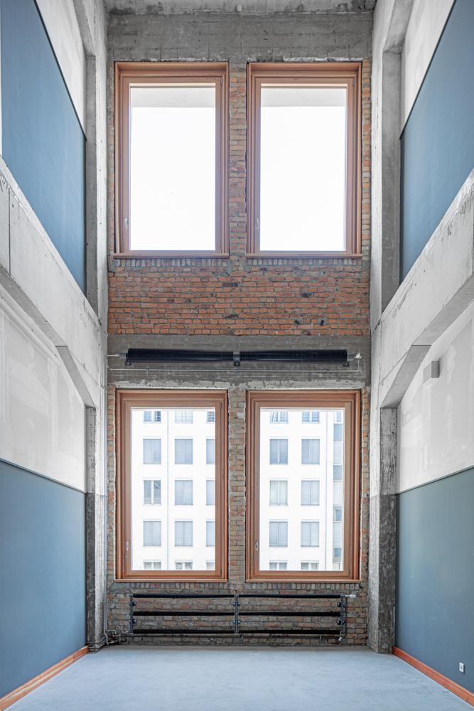 Hochschule für Schauspielkunst Ernst Busch - Fensterfassade - Architekturfotograf Ken Wagner Architekturbüro Ortner und Ortner