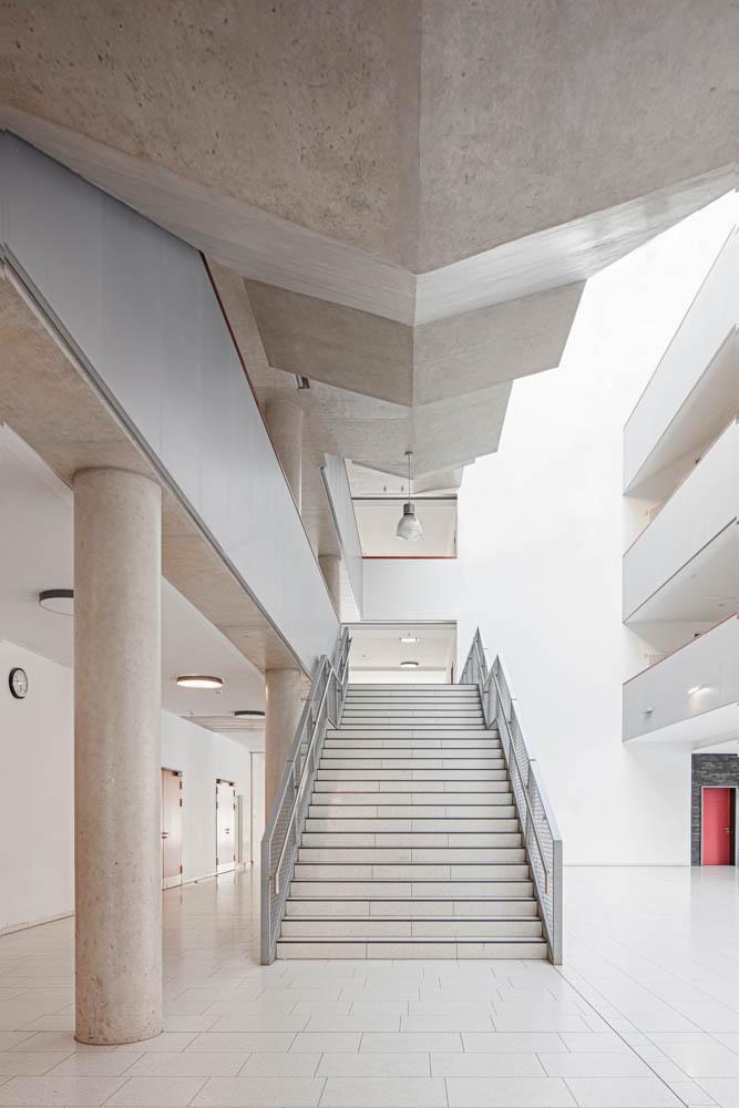 Gerda Tora Schule Leipzig Architekturfotograf Ken Wagner Alten Architekten Treppenhaus