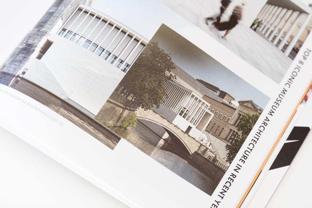 Veröffentlichung im chinesischen Magazin als Architekturfotograf James Simon Galerie
