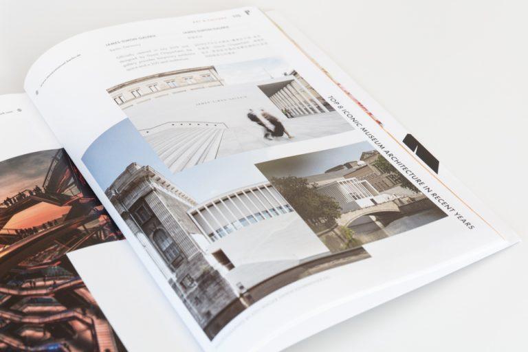 Veröffentlichung im chinesischen Magazin als Architekturfotograf James Simon Galerie Architekt David Chipperfield