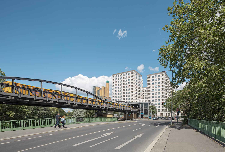 high Park Berlin am Potsdamer Platz mit U-Bahn - Architekturfotografie Ken Wagner
