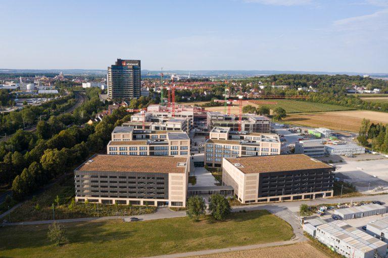 W&W Gruppe Campus Architekturfotografie Ludwigsburg Ken Wagner Fensterfassaden Drohnenaufnahmen