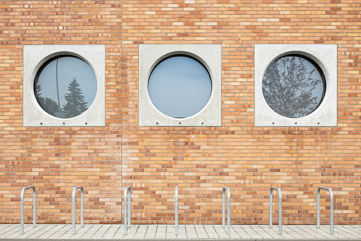Architekturfotografie von Johann-Pachelbel-Realschule in Nürnberg, Architekturfotograf Ken Wagner