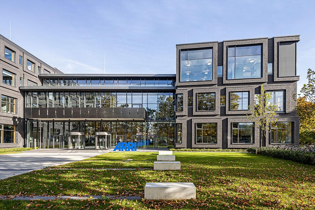 Arri Headquater München Haupteingang Firmenzentrale, Architekturbüro Hoffmann und Amtsberg