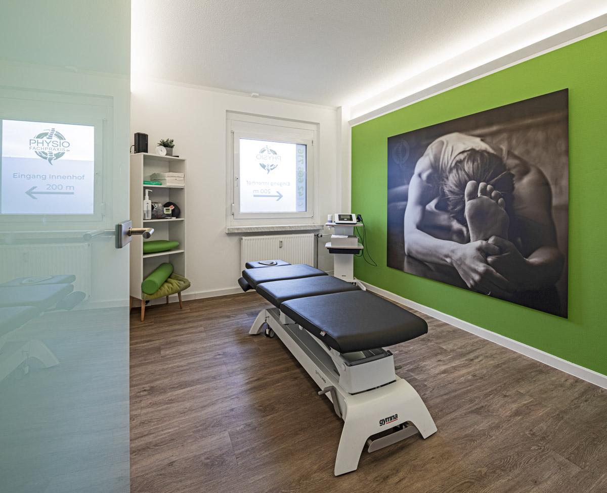 Physiotherapiefachpraxis Heynold auf der Papsdorfer Straße - Lichtmänner GmbH -Behandlungsraum2