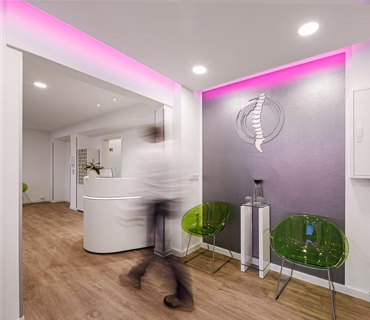 Physiotherapiefachpraxis Heynold auf der Papsdorfer Straße - Lichtmänner GmbH - Foyer - Warteraum