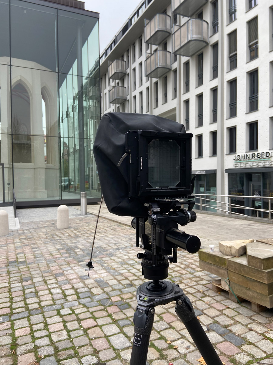 Making of als Architekturfotograf in Dresden - Denkraum Sophienkirche  mit der Großformatkamera Arca Swiss p1+