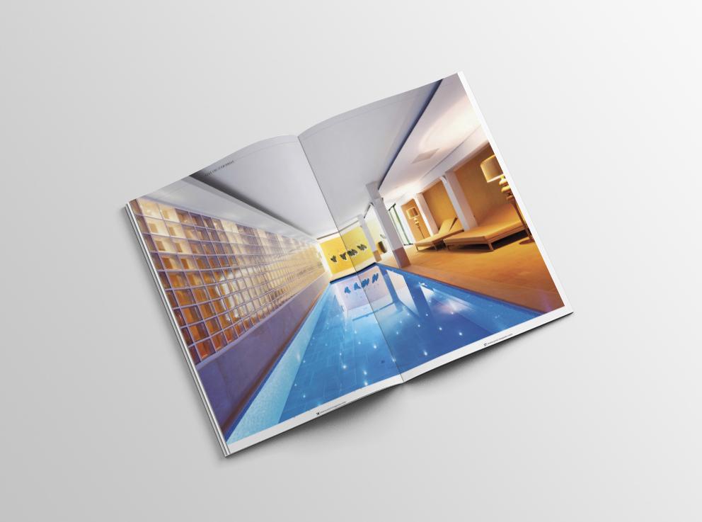 Schwimmbadfotografie Veröffentlichung Spa&Home Pool Schwimmbadfotografie Swimmingspool Hütel&Mess