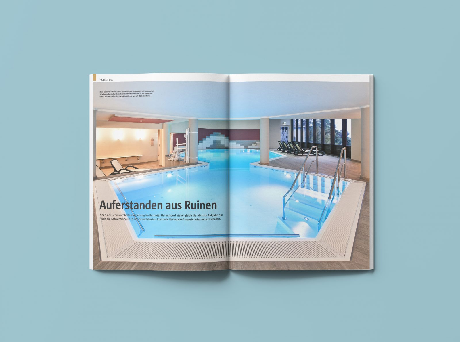 Kurklinik Kurschwimmbad Heringsdorf Ostsee Hütel&Mess Ospa Schwimmbadtechnik