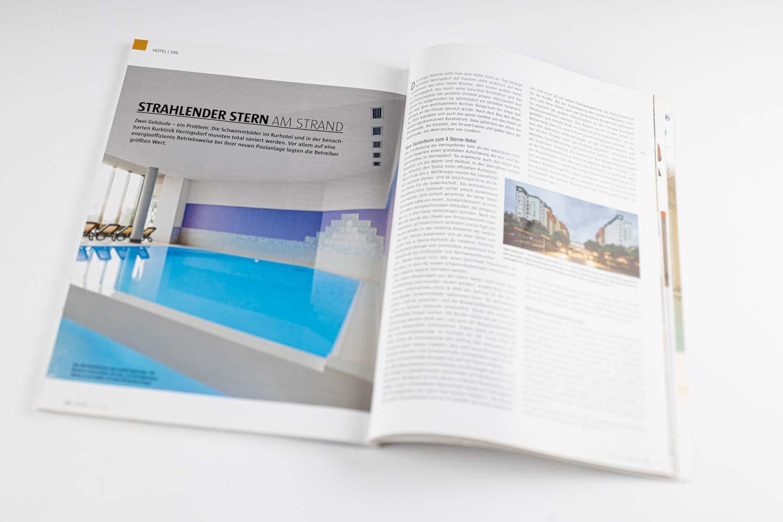 Schwimmbadfotografie Veröffentlichung im Magazin Spa & Home